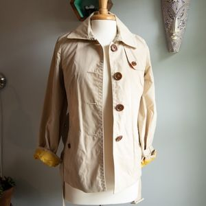 J. Crew Women's Travel Trench Khaki Coat Size XS/S